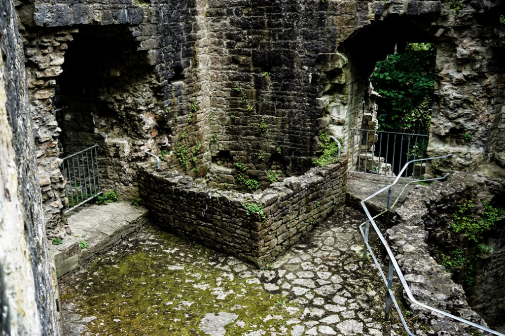 Haunted Goblin Tower well at Denbigh Castle and walls.