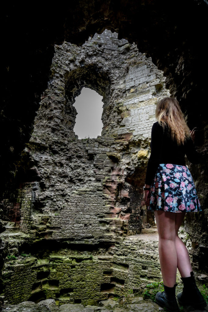 Ruins of Denbigh Castle are haunted.