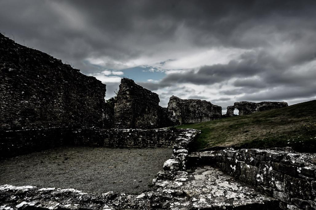 Haunted Denbigh Castle in Wales.