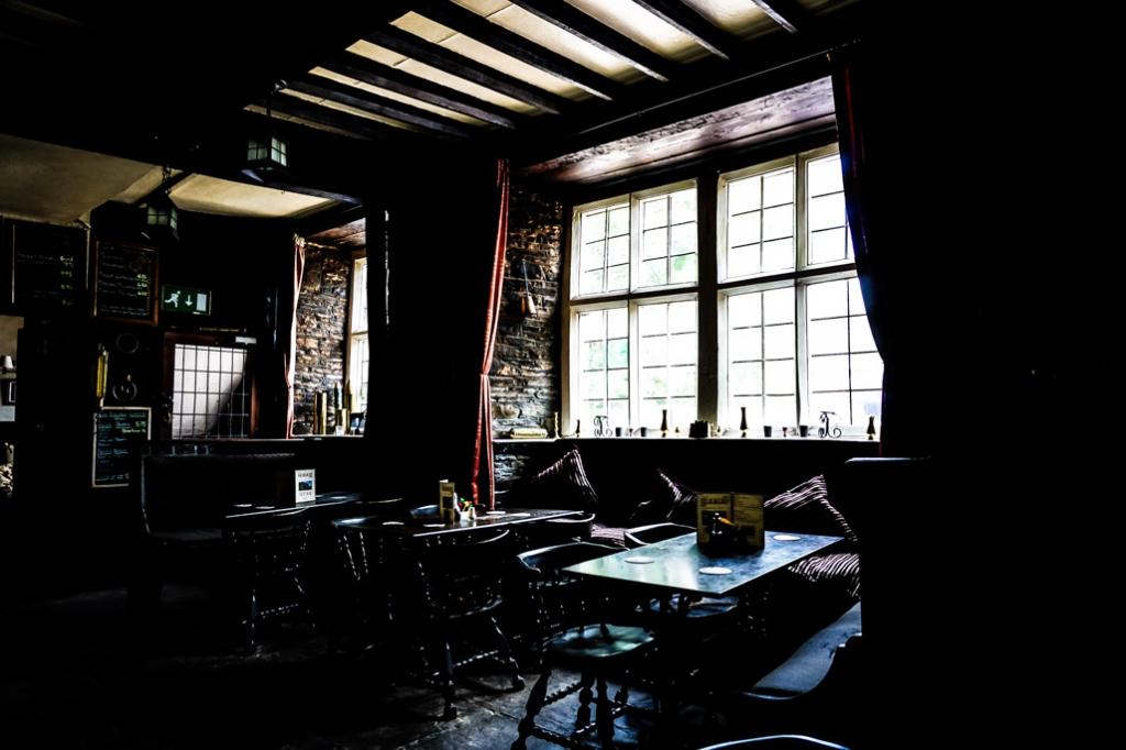 Dining room at the Skirrid Mountain Inn.