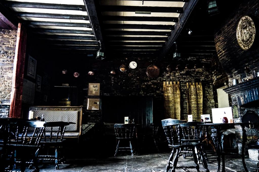 Haunted pub in Wales the Skirrid Inn.