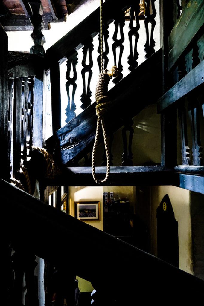 Noose inside the creepy Skirrid Inn of South Wales.