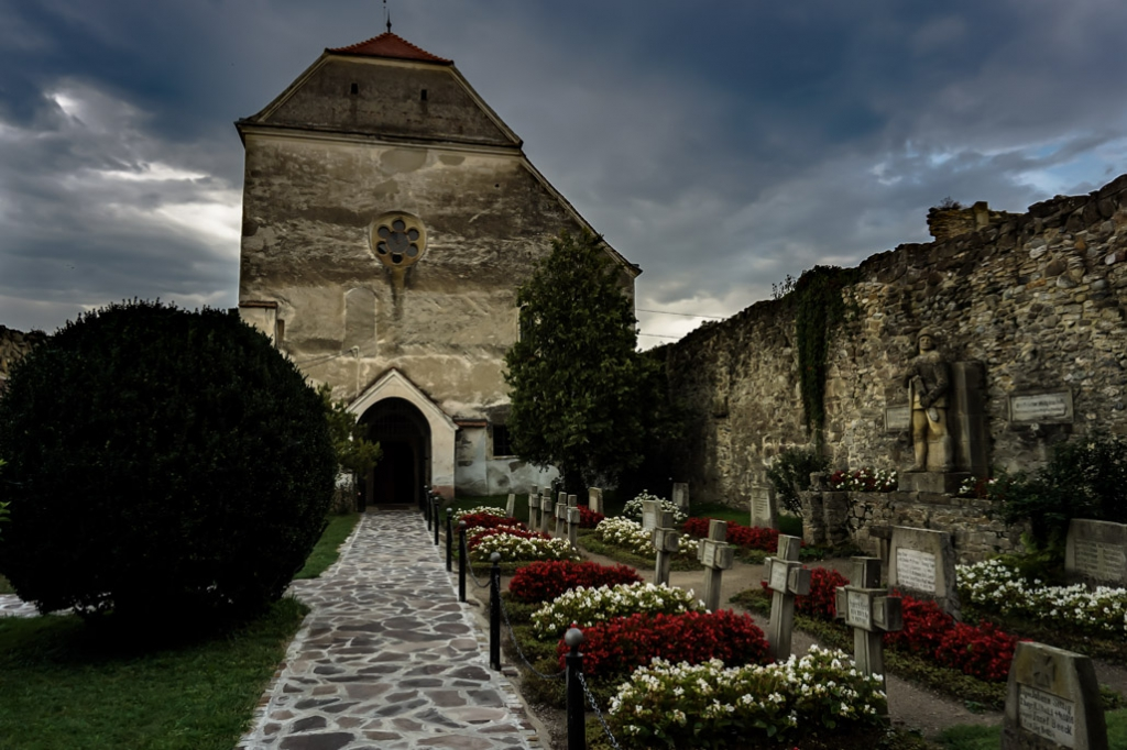 Courtyard of the Carta Monastery, Romania.