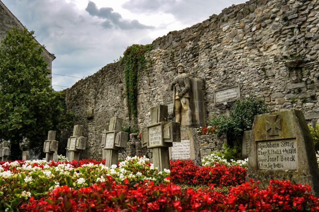 Carta Abbey cemetery in Romania.