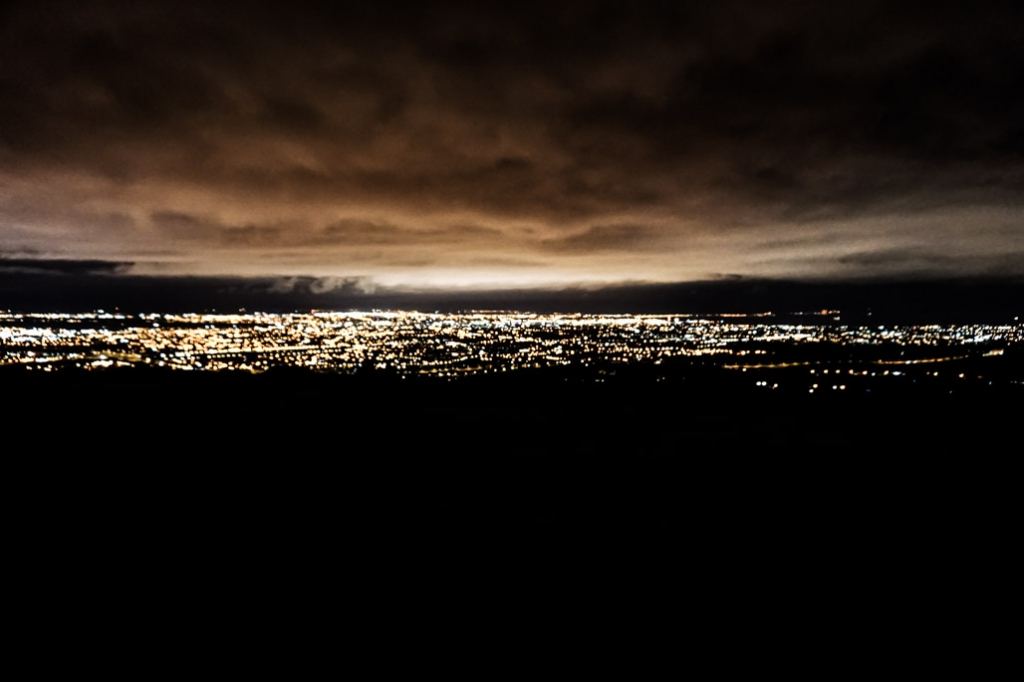 View of the city from Dublin Hellfire Club.