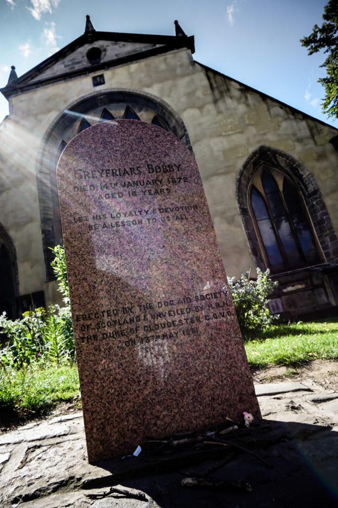 Greyfriars Bobby tombstone.
