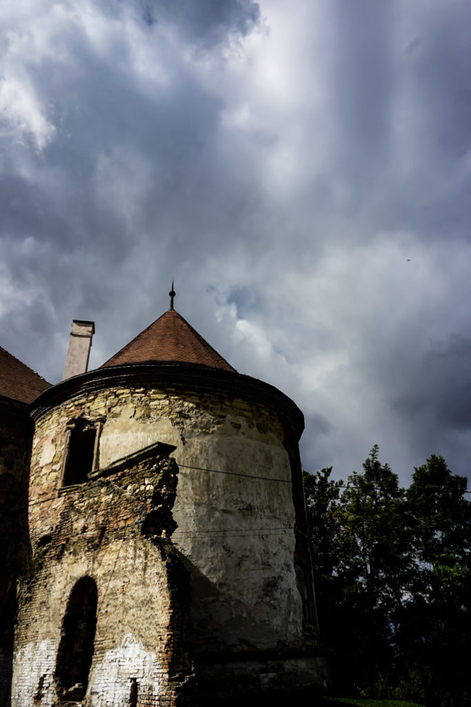 haunted castle tower in Romania.