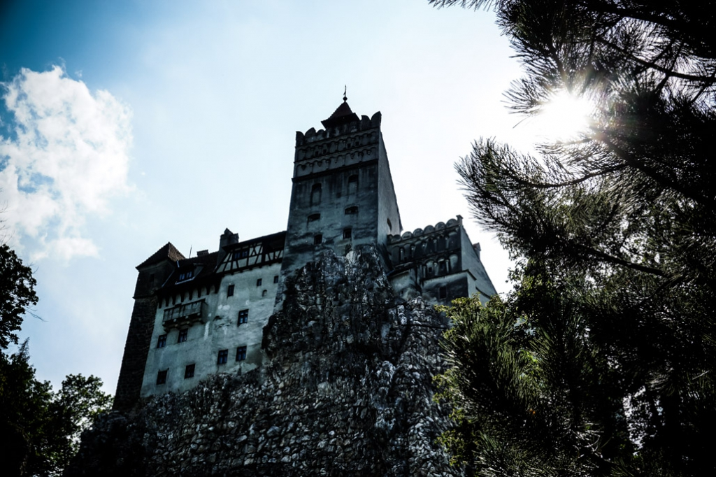 Bran Castle which is marketed as Dracula's Castle.