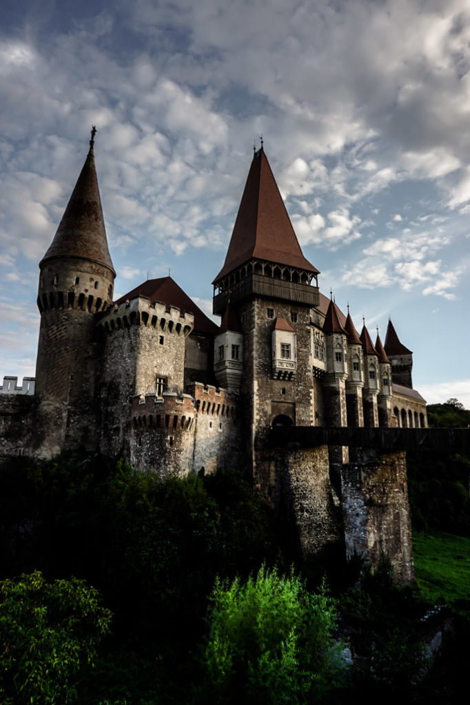 Outside of Corvin Castle, Romania