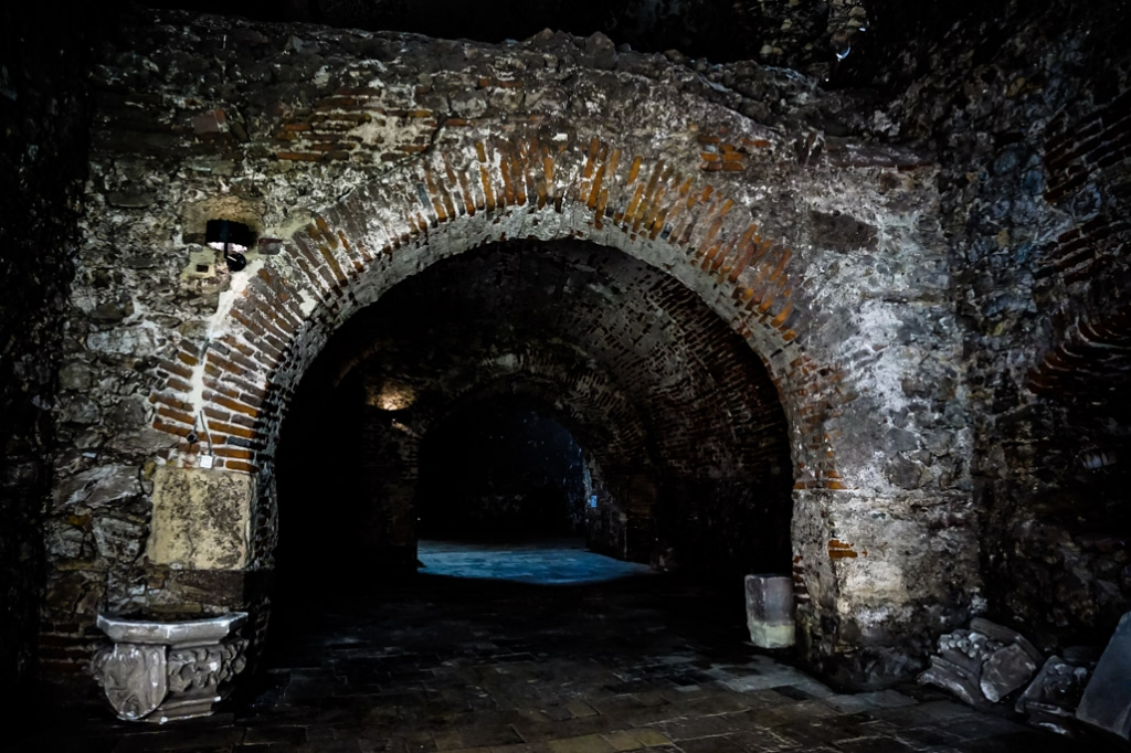 Dark rooms of the castle.