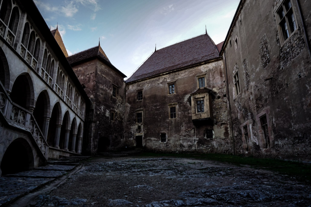 Courtyard of Corvin Castle.