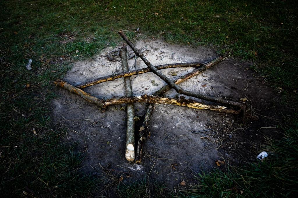 Hoia Baciu Forest stick symbol.