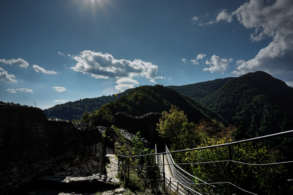 Poenari Citadel view.
