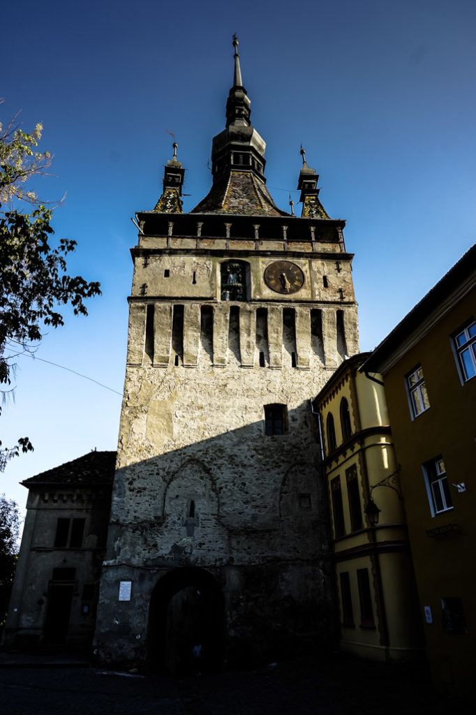 The haunted old clock tower of Sighisoara.