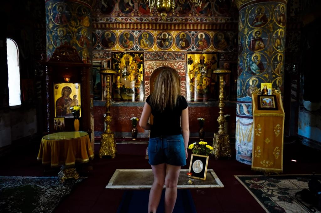 Vlad the Impaler grave in Snagov Monastery.