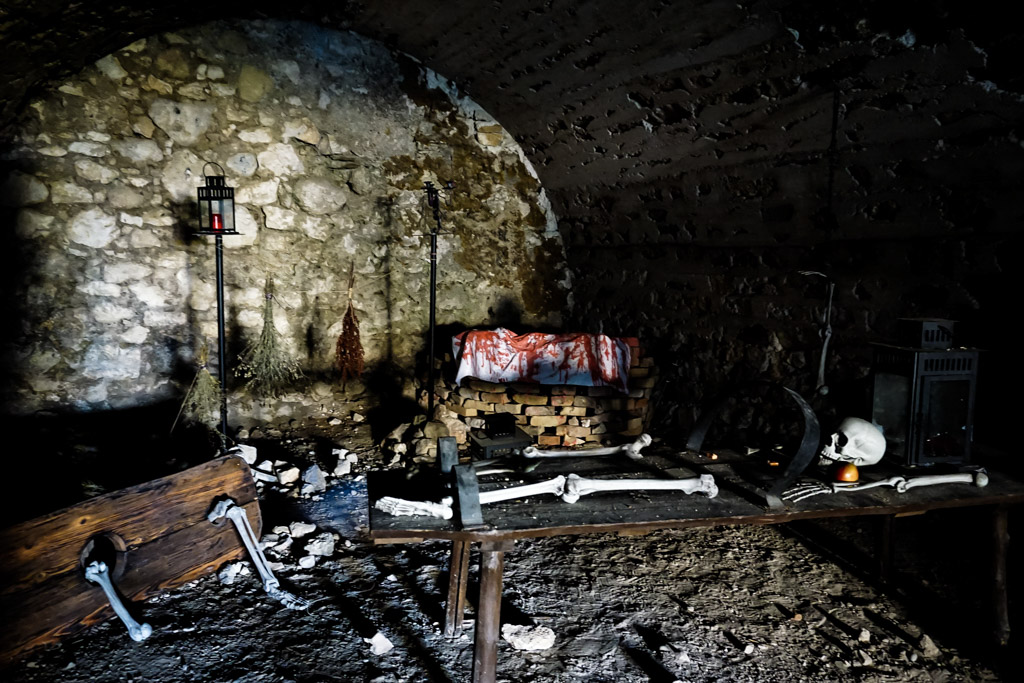 Torture chamber Blood Countess Castle.