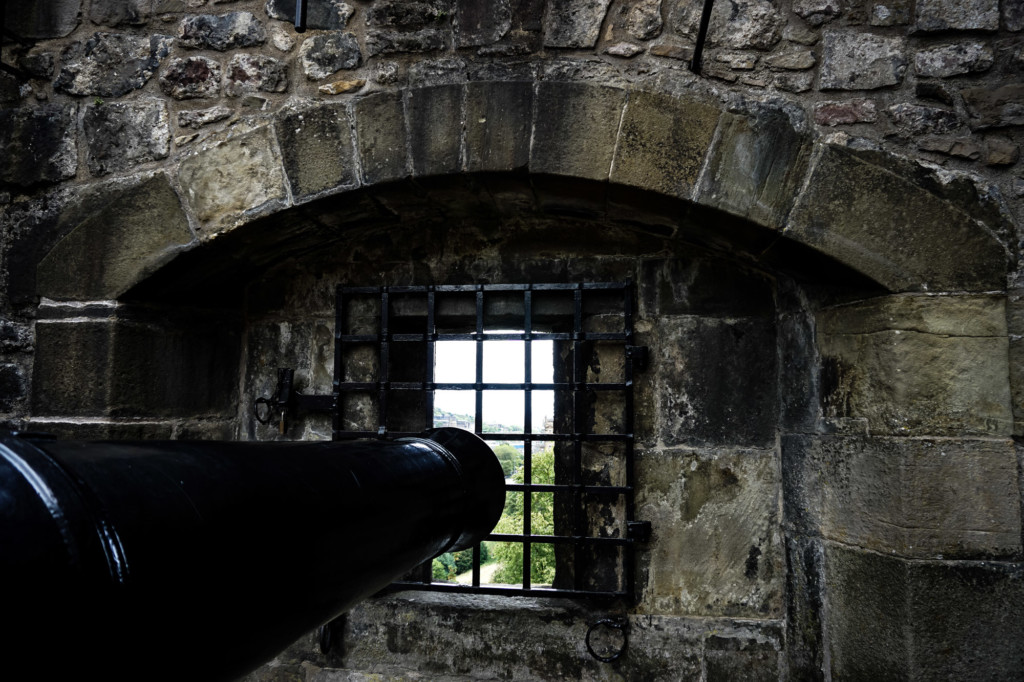 Cannons at Edinburgh Castle.