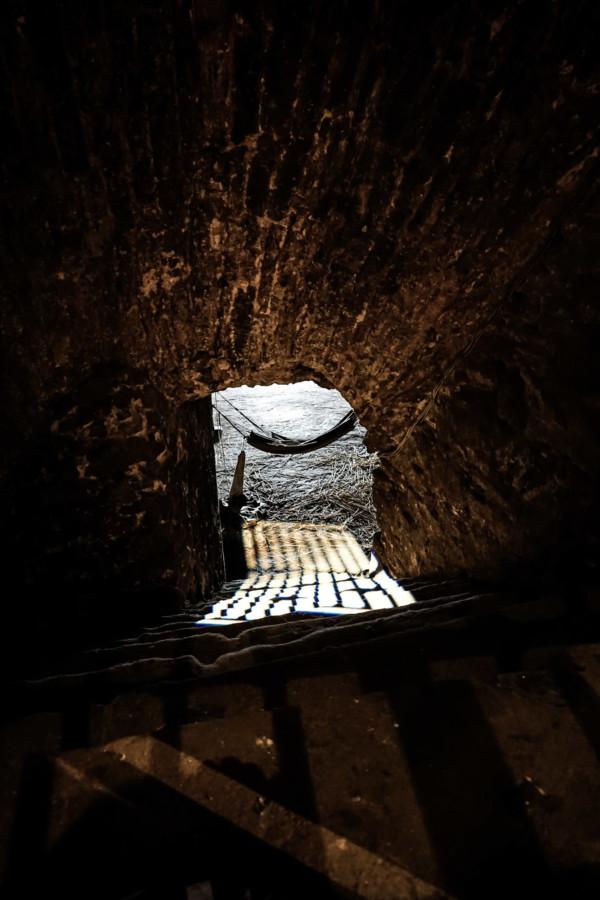 Dungeons underneath Edinburgh Castle.