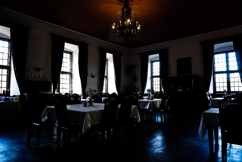 Dining room in Lagow Castle.
