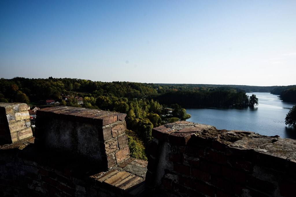 Lagow lake from castle tower.