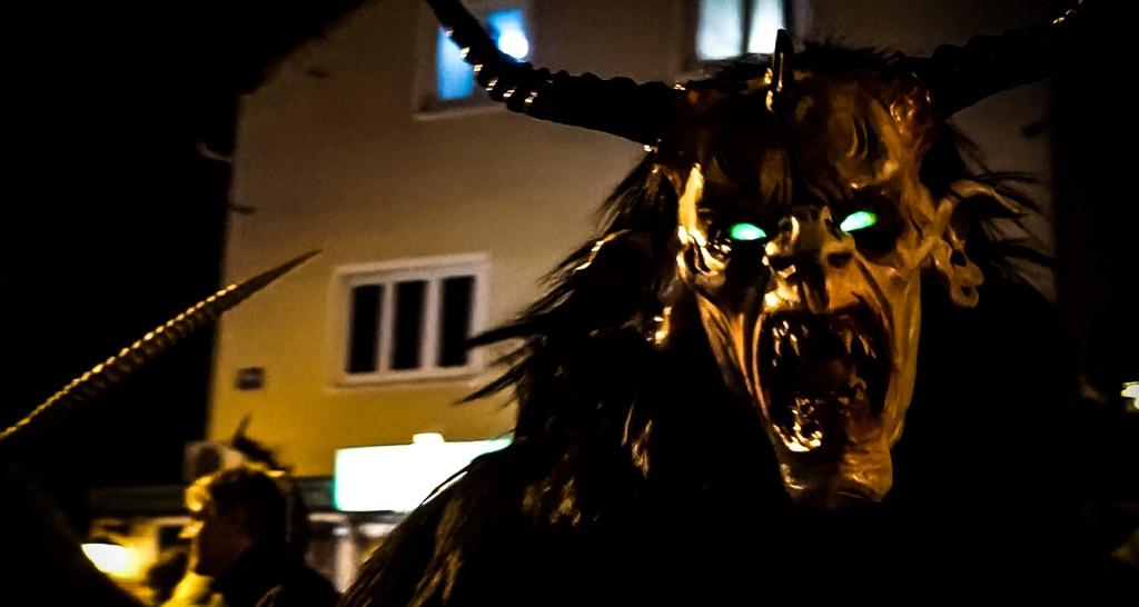 Krampus beast in Salzburg.