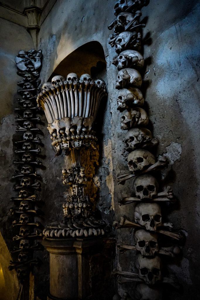 Human bones in the bone church.