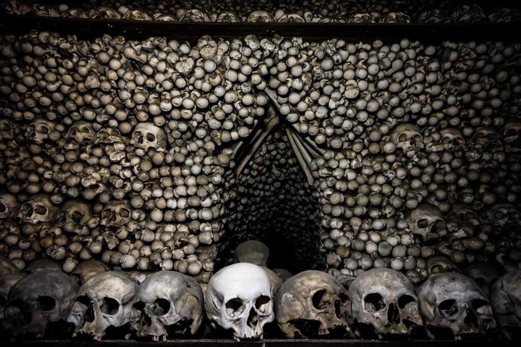 Bone ossuary in Czechia.