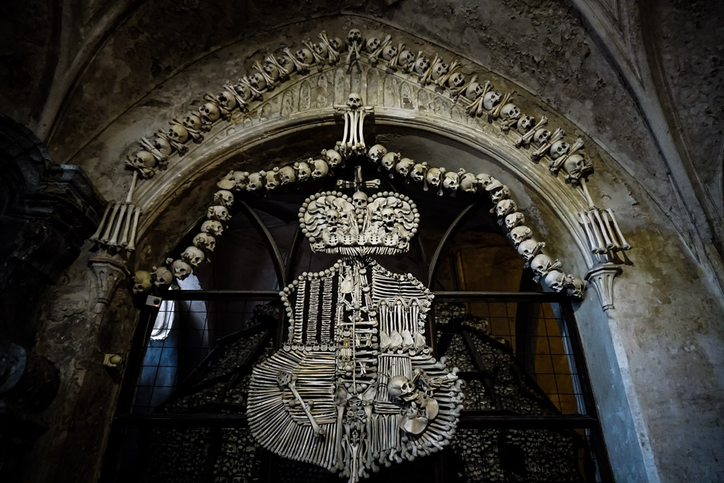 Bone coat of arms.