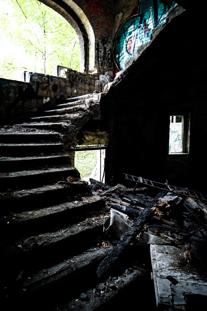 Abandoned stairs.