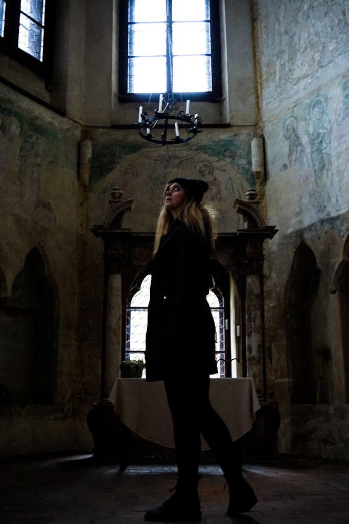 Houska Castle Chapel covers portal to hell.