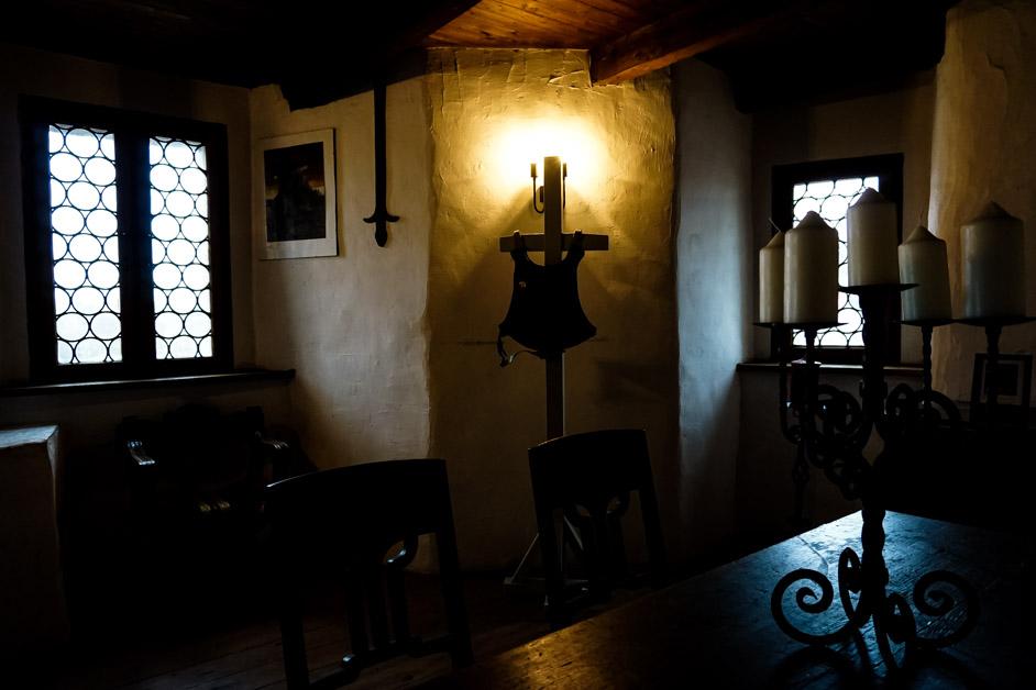 Interior of Burg Wolfsegg.