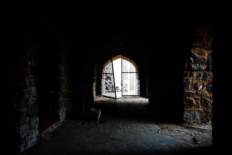 Inside Feroz Shah Kotla Fort