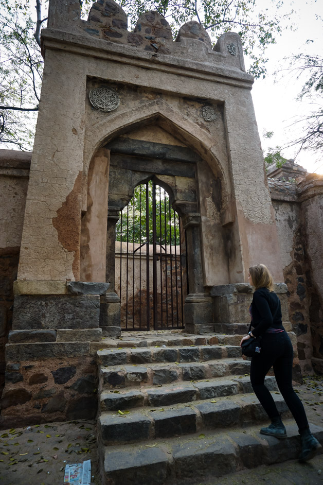 The steps of Bhuli Bhatiyari Ka Mahal
