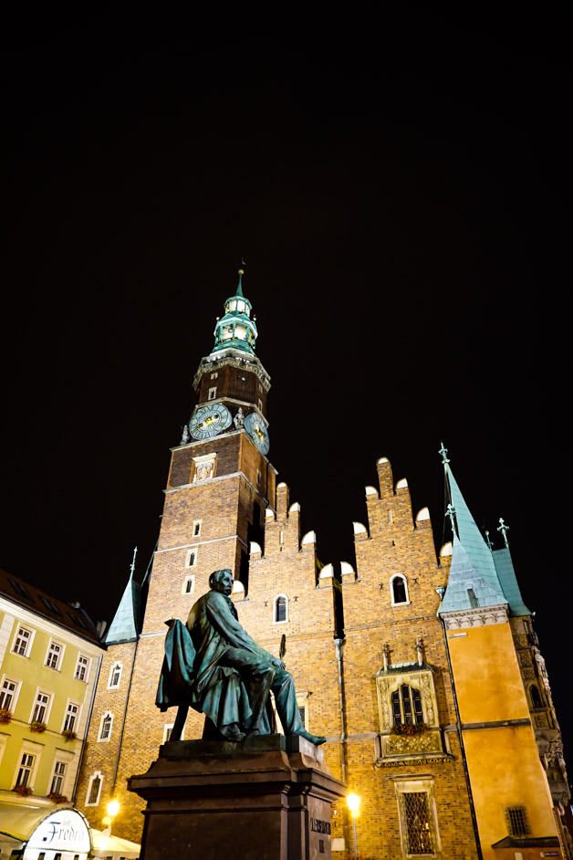 Historic and haunted Wroclaw in Poland.