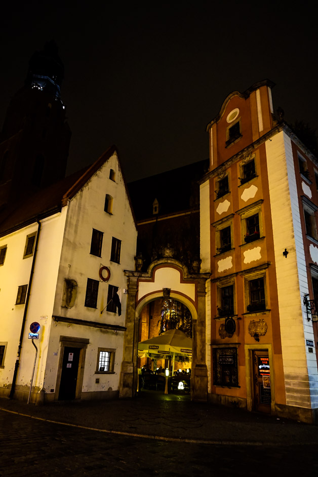 Hansel and Gretel buildings in Wroclaw.