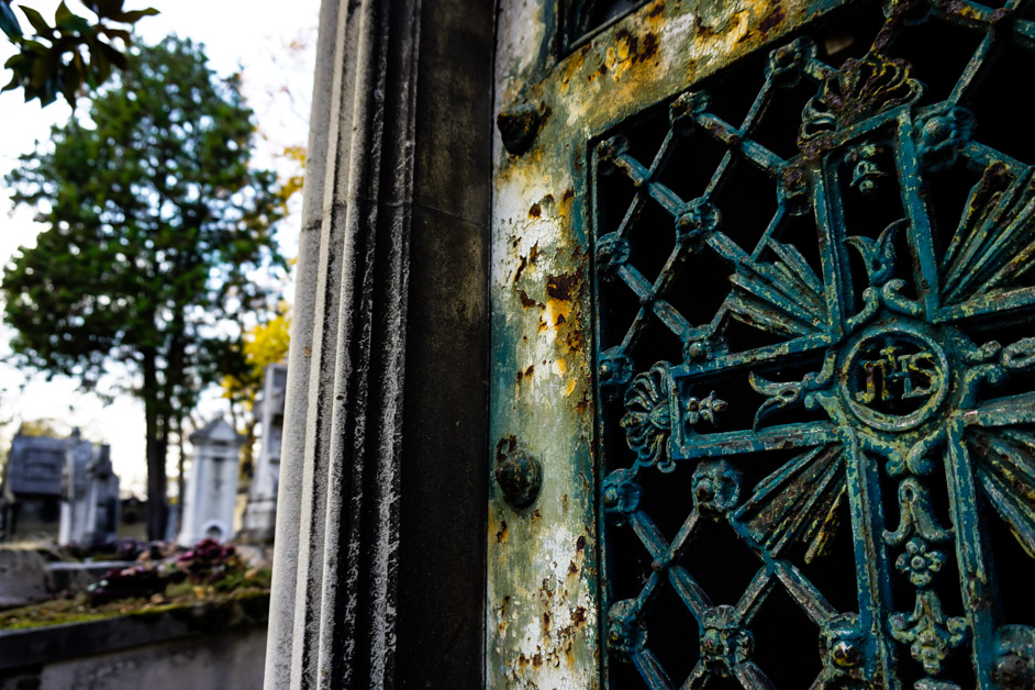 Pere Lachaise Cemetery. Paris, France.