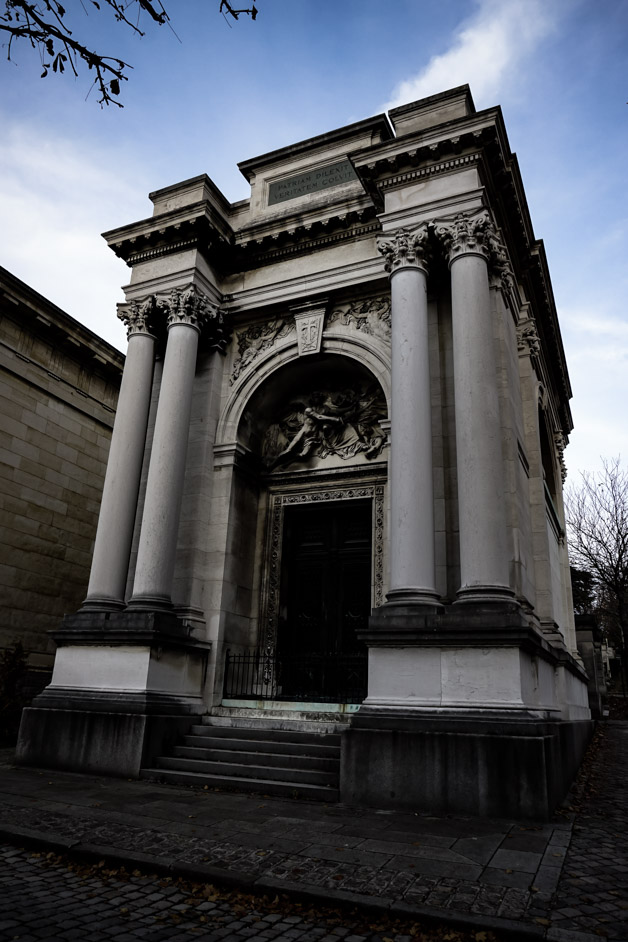Haunted tomb in Pere Lachaise Cemetery.