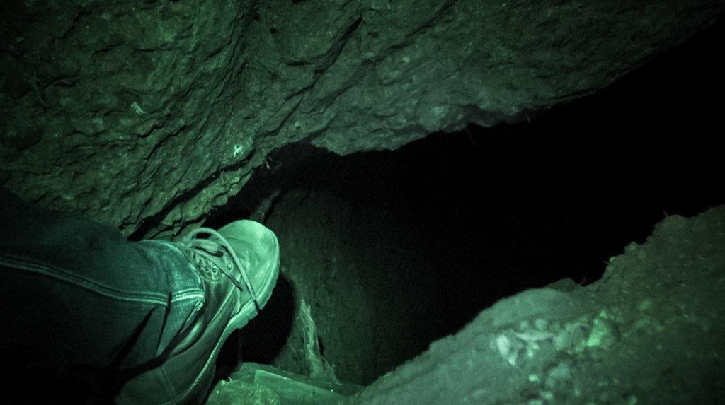 Hidden catacombs in Romania.