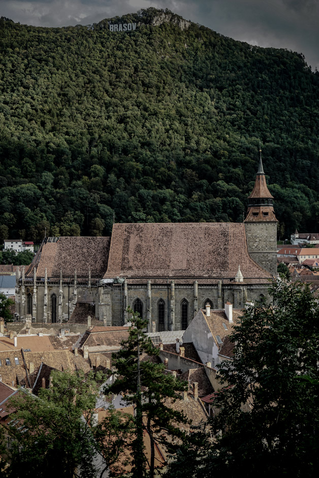 Black Church in the mountains of Brasov.