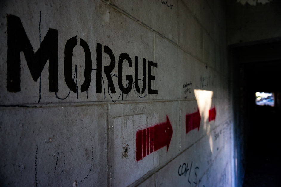 Clark Airbase Hospital Morgue.
