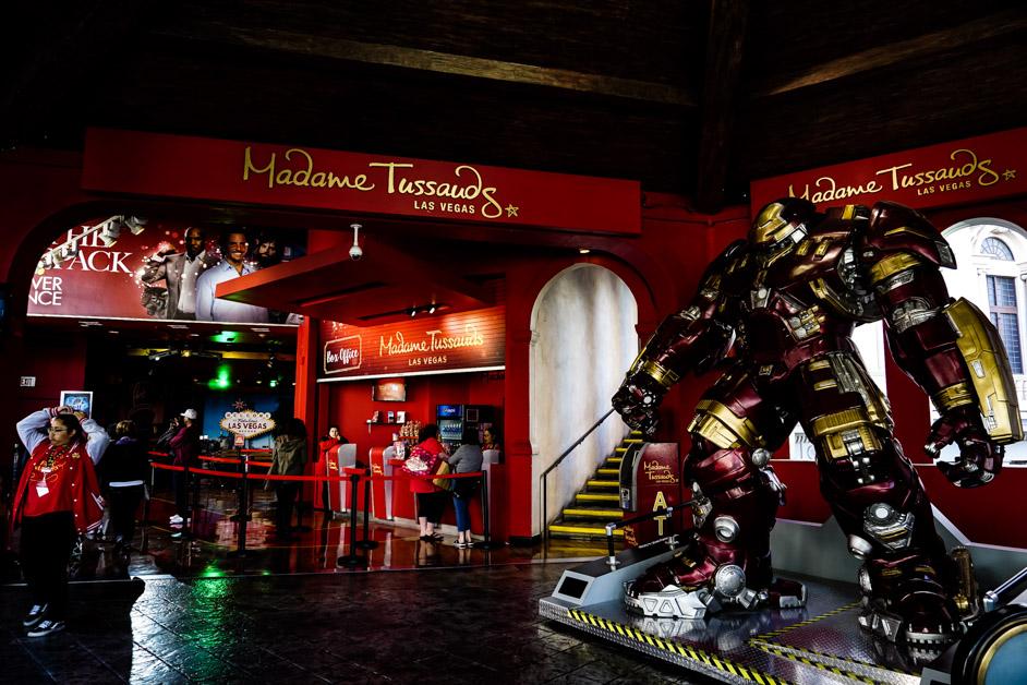 Madame Tussauds on Vegas strip.