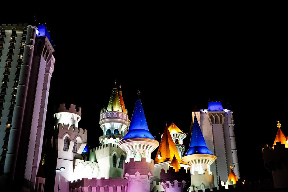 The castle Excalibur in Las Vegas.