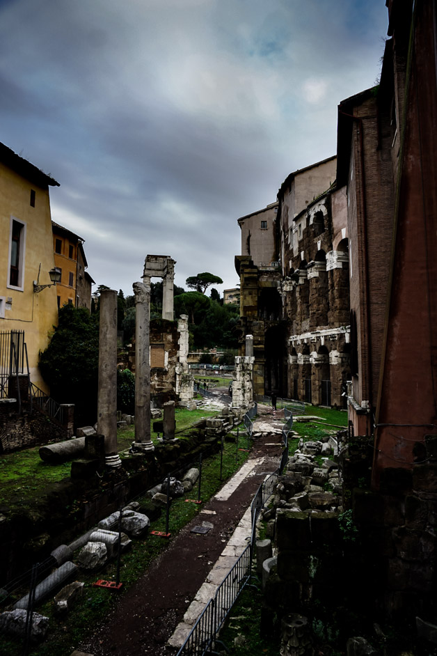 Haunted Portico of Octavia in Rome.