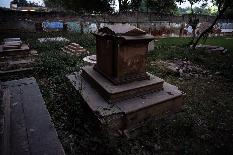 Ghosts of Delhi cemetery.