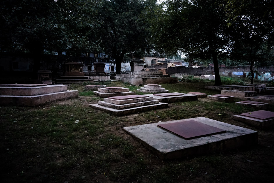 Haunted cemetery in Delhi, India.