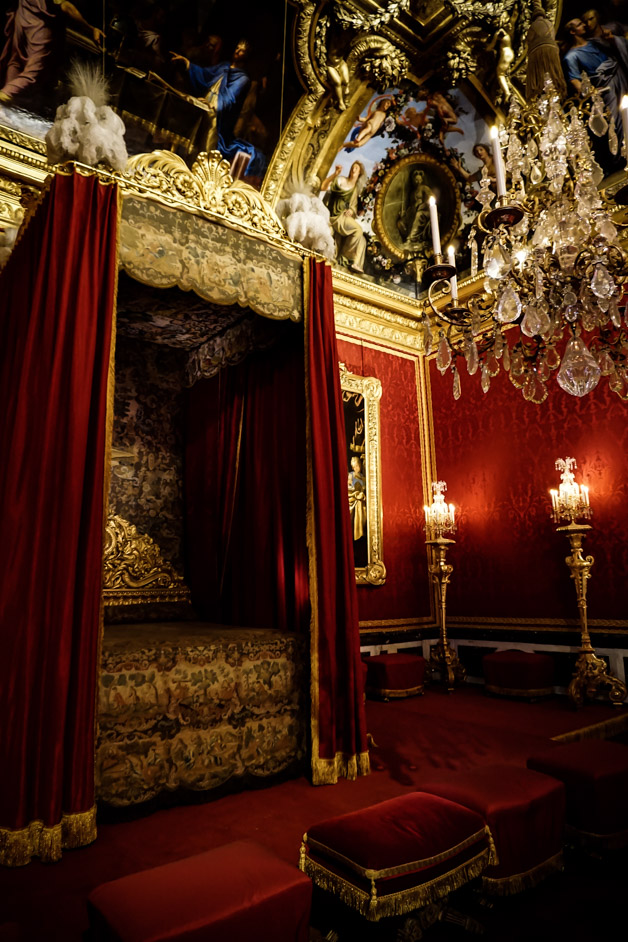 Royal bedroom in Palace of Versailles.