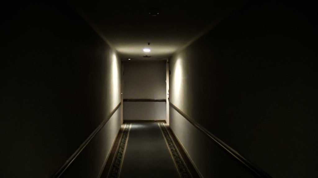 Haunted hallways of the Baiyoke Sky Tower.