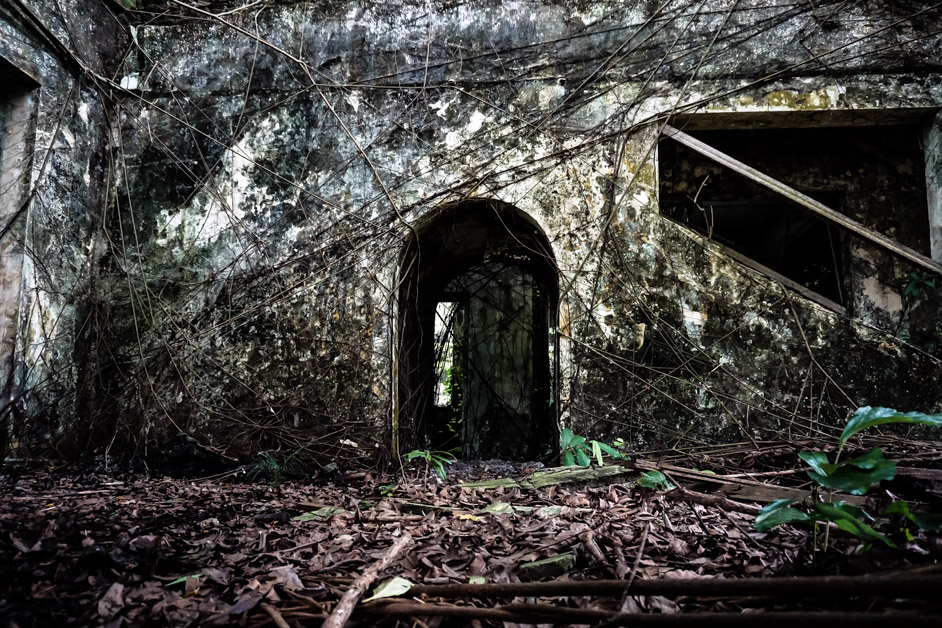 Overgrown haunted house in Malaysia, the Bukit Tunku.