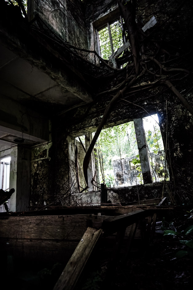 Inside a real haunted mansion.