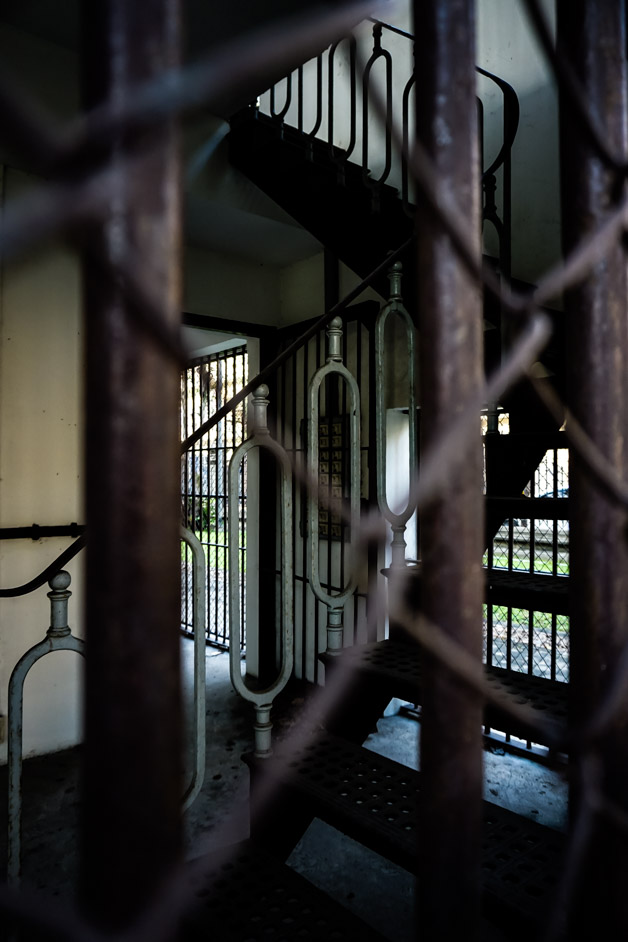 Haunted prison cellblock in Thailand.